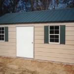 tan green shed 150x150 Shed Pictures