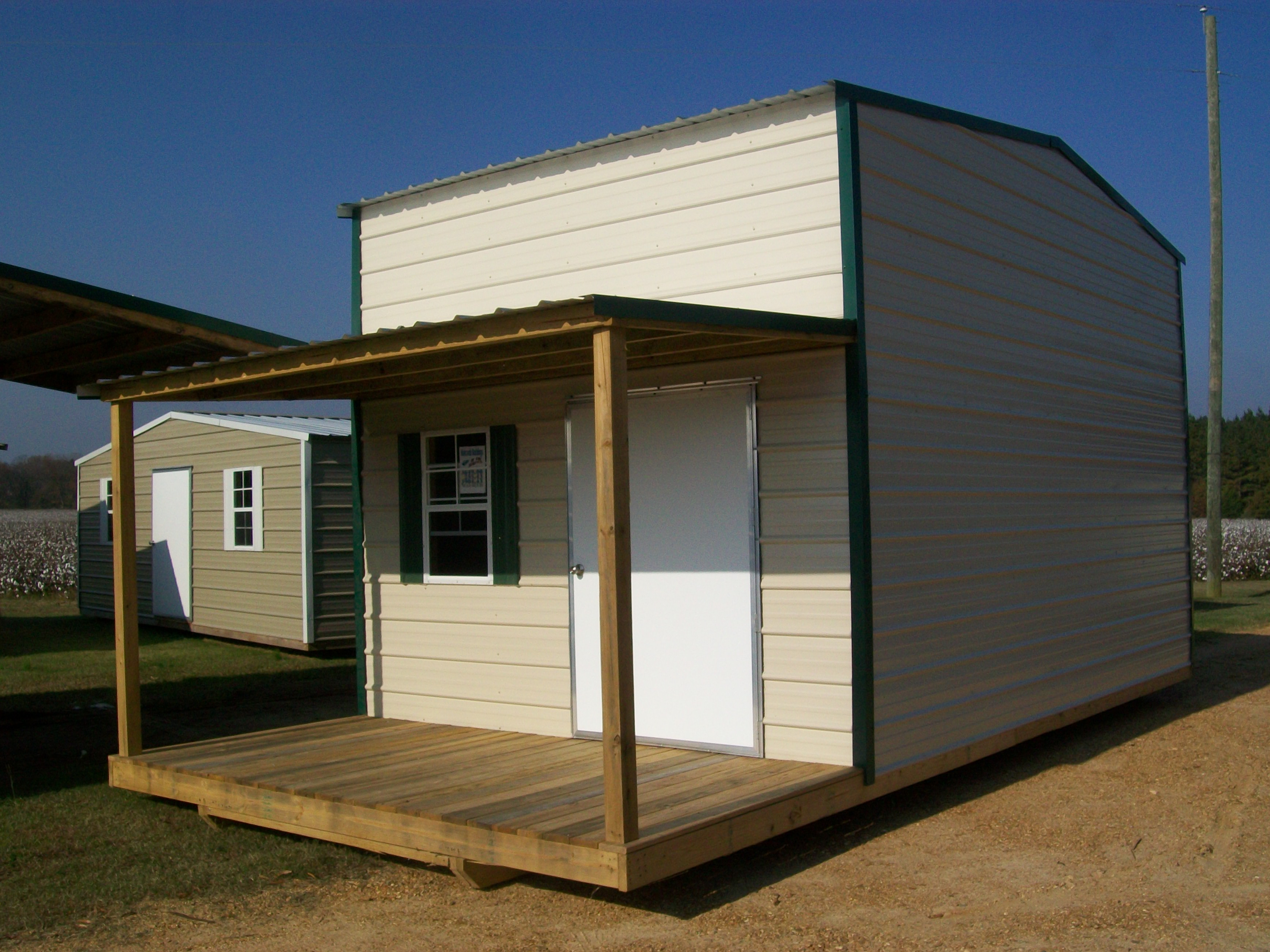 Storage Building With Loft And Front Porch