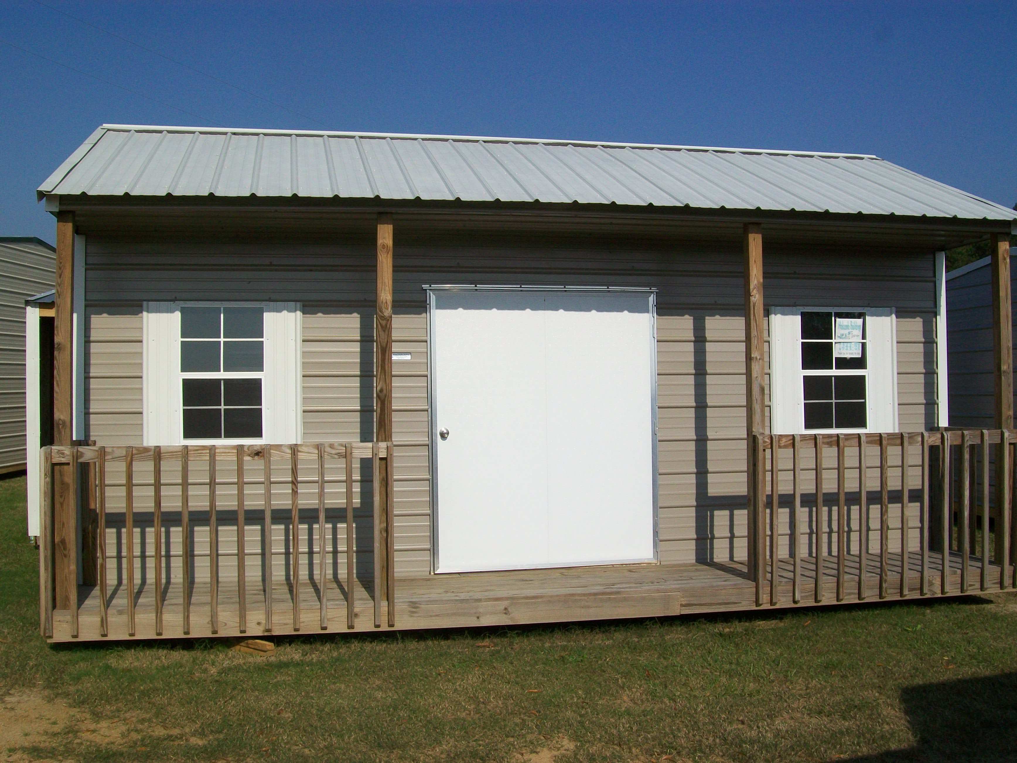 Shed with Front Porch